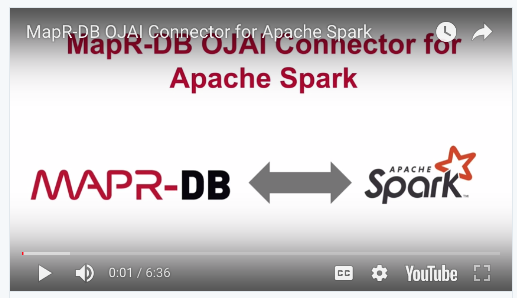 The MapR-DB Connector for Apache Spark